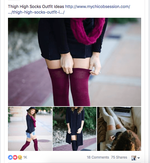 featured on chrissy's knee high socks
