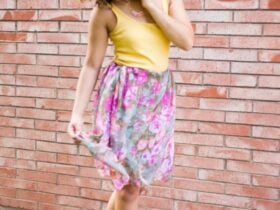 how to turn a scarf into a skirt