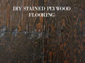 diy stained plywood flooring