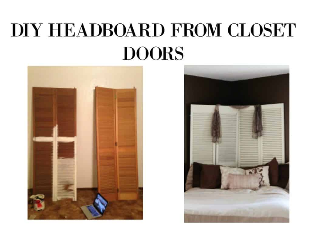 Diy headboard from shutter closet doors my chic obsession eventshaper