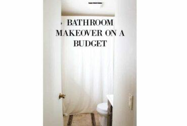 bathroom makeover on a budget