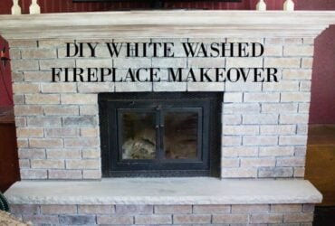 diy white wash fireplace makeover