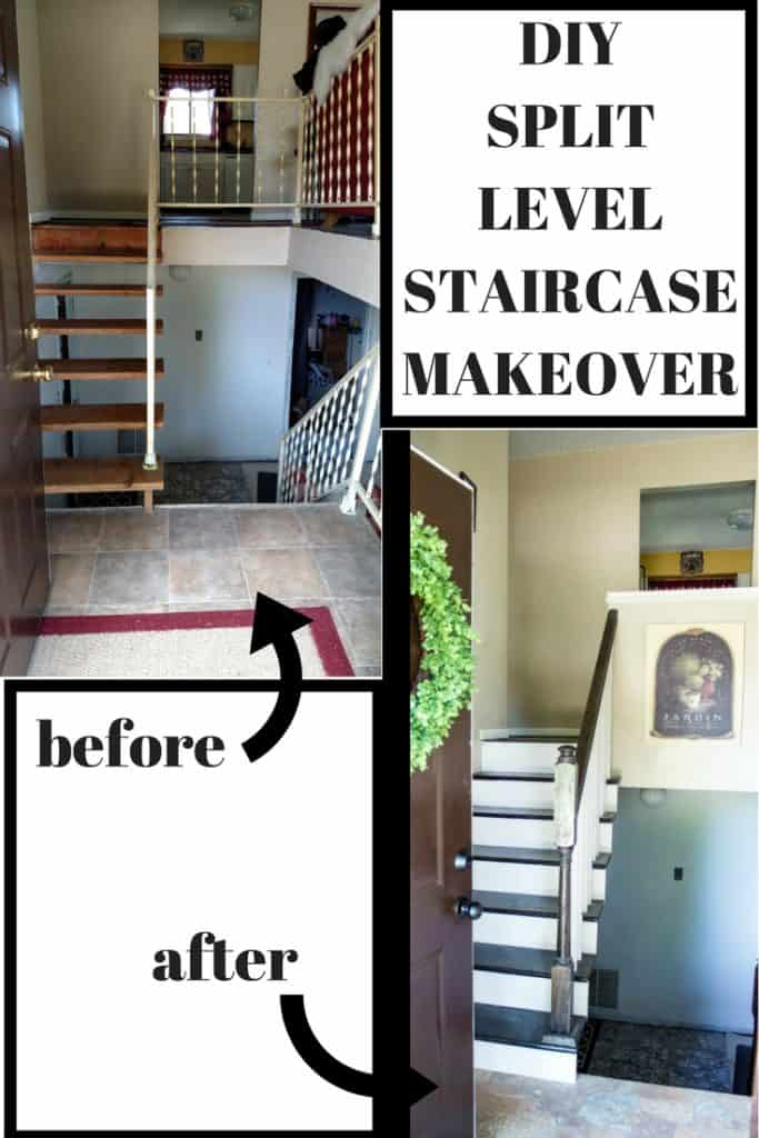 29 Split Entry Living Room Decorating Ideas Keep Home: Split Level Staircase And Entryway Makeover