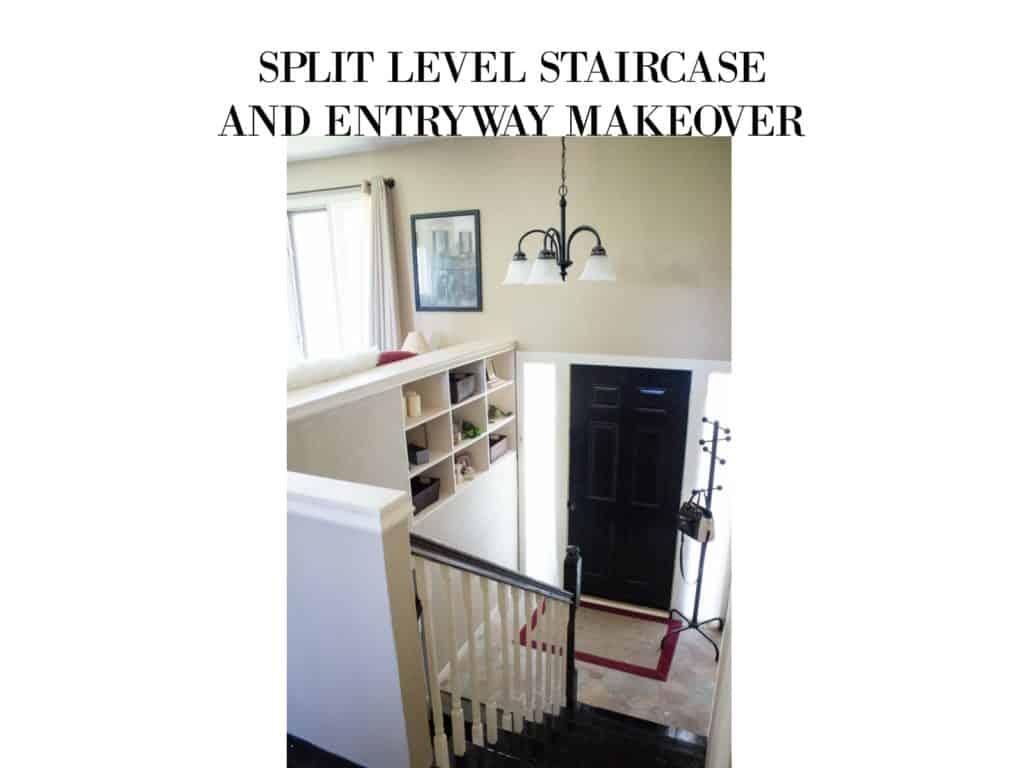 Split Level Staircase And Entryway Makeover My Chic Obsession