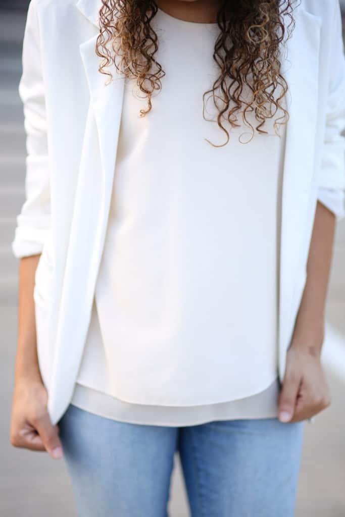 d2bb5a2c733 ... how to wear a white blazer. white blazer outfit ideas. white on white  ...