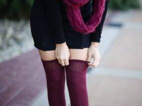 thigh high socks fall