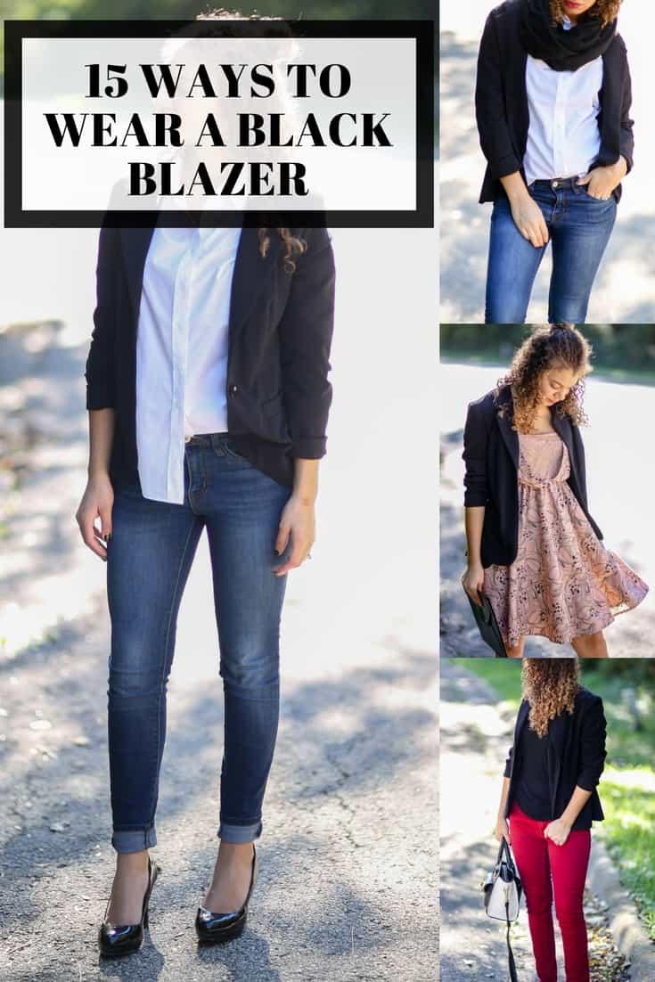 black blazer outfit ideas fashion blog
