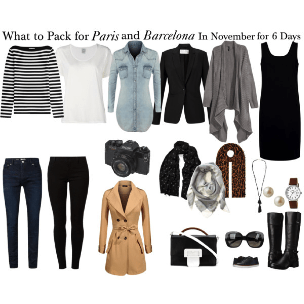 packing list for paris and barcelona