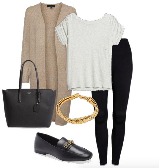 black legging outfit