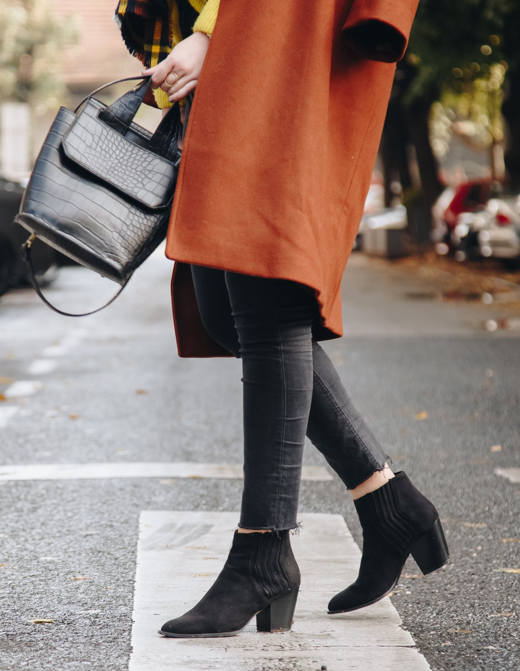 skinny jeans with booties