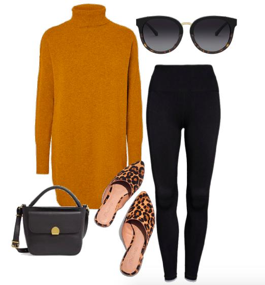 stylish black leggings outfit
