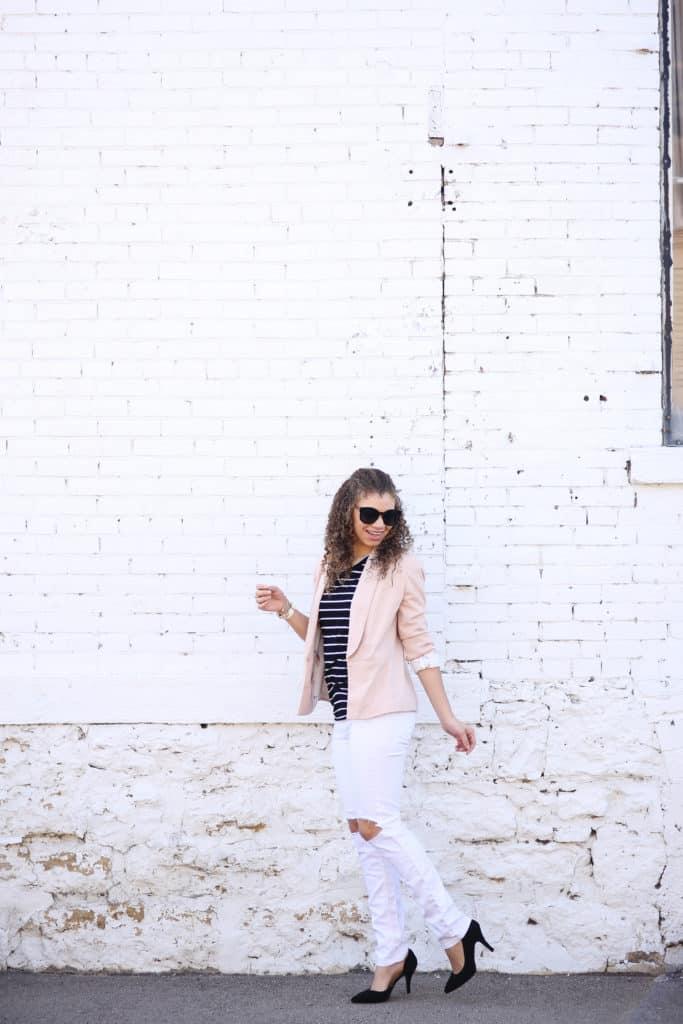 white jeans in spring