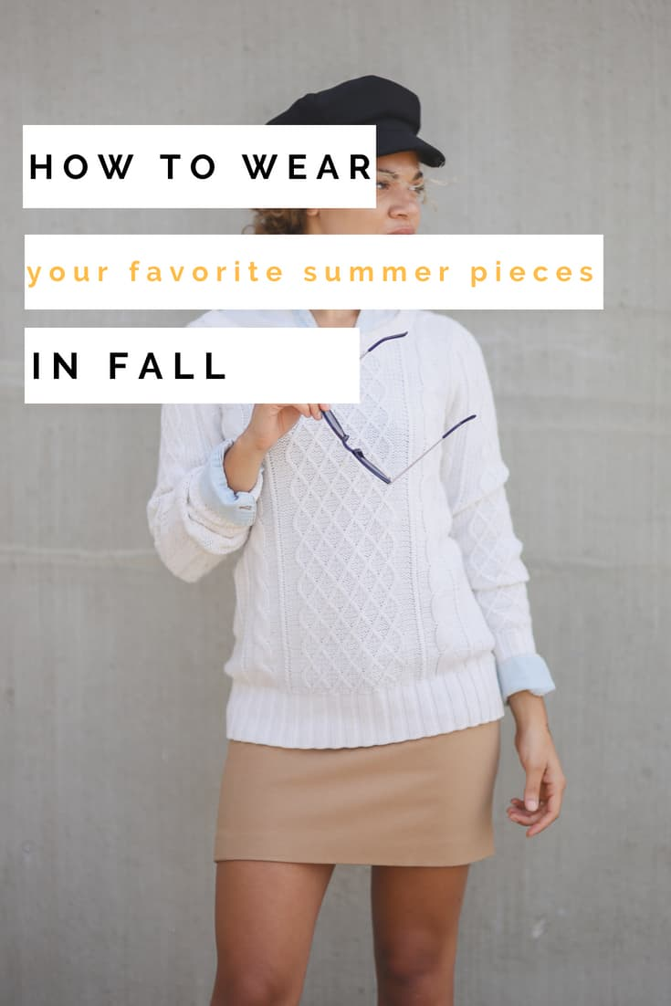 summer pieces into fall