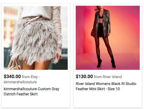 feather fringe skirt