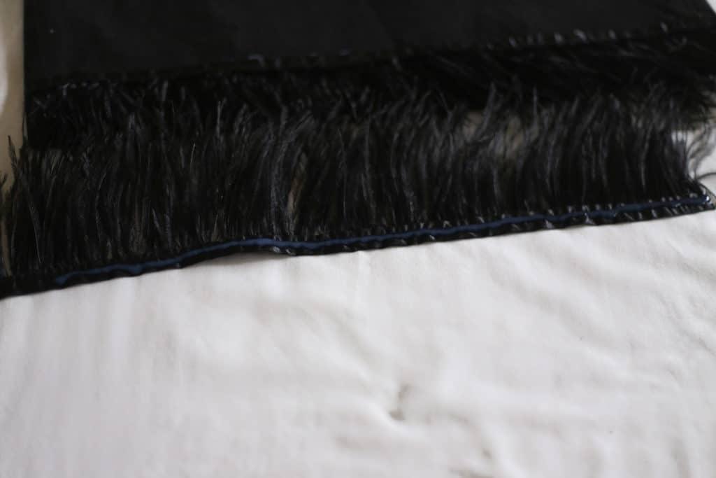 diy feather fringe skirt