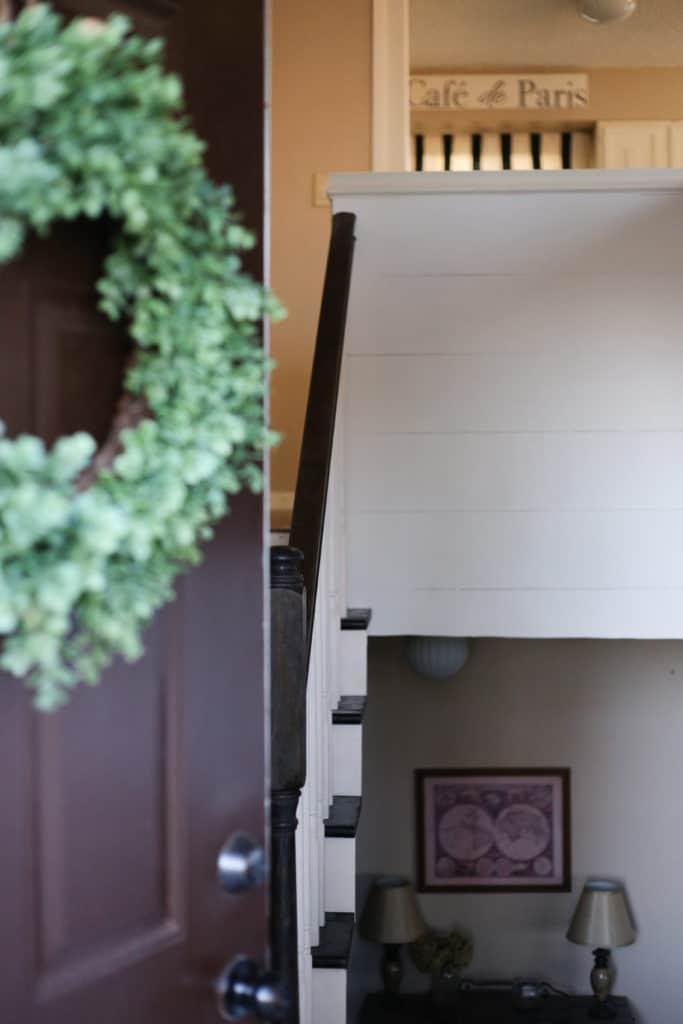 shiplap split level entryway makeover