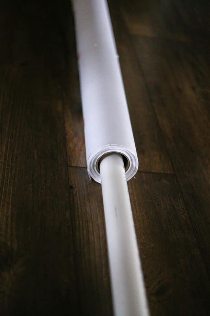 diy pvc pipe indoor photography backdrop