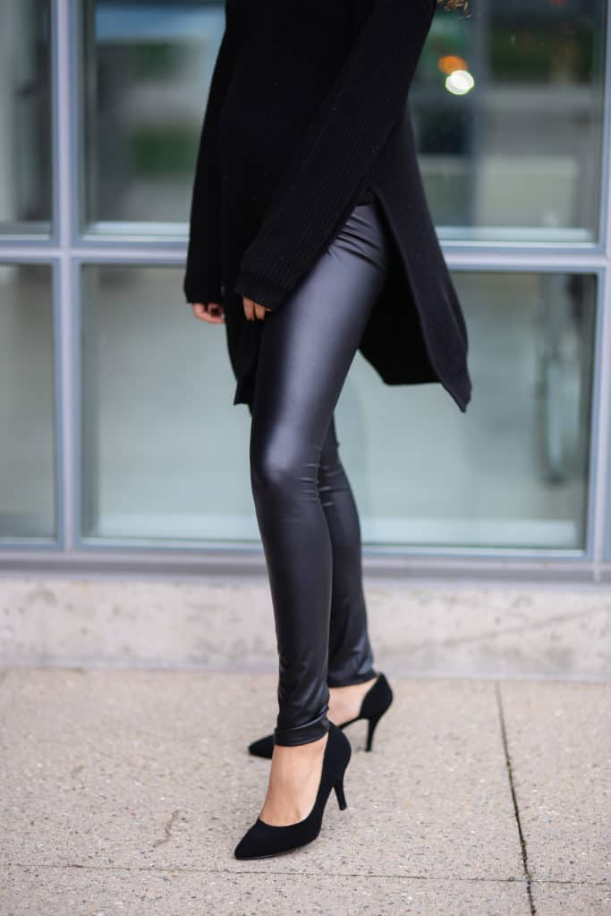 pointy black shoes
