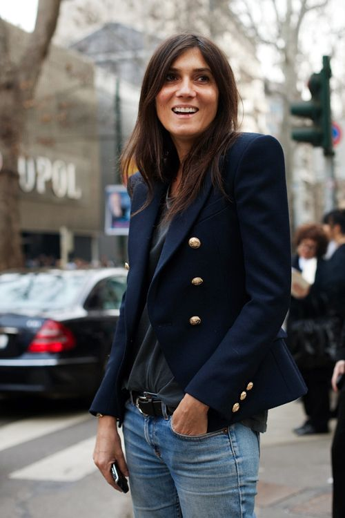 jeans and blazer french outfit