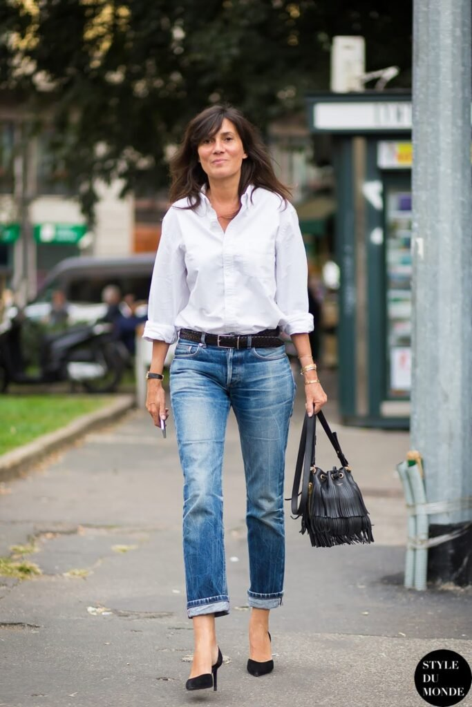 white button down french outfit