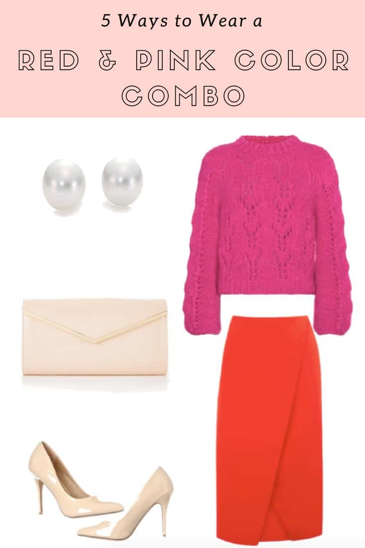 5 Ways to Wear a Red and Pink Color Combo | Red and Pink Outfit - My ...