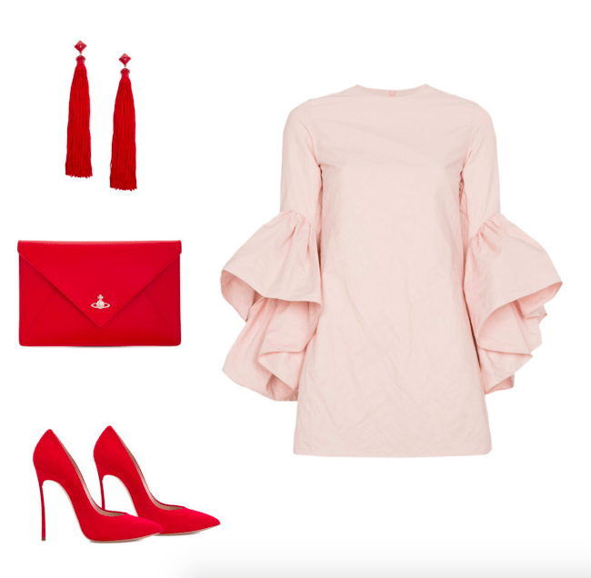 red and pink outfit