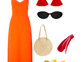orange and red color combo