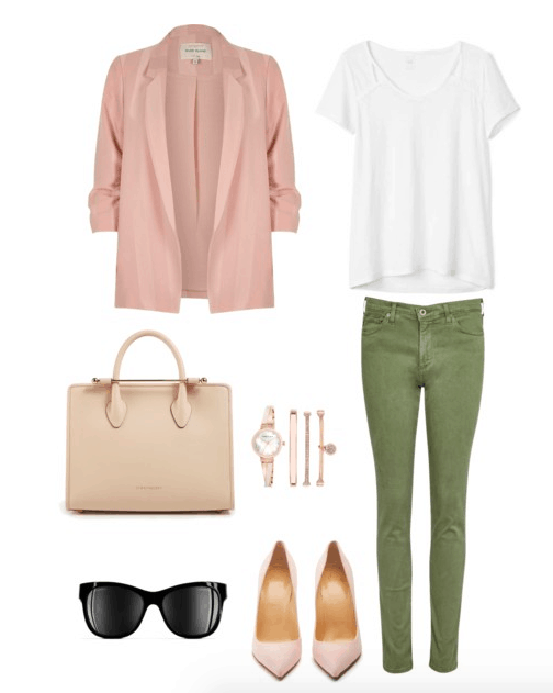 pink and green color combo