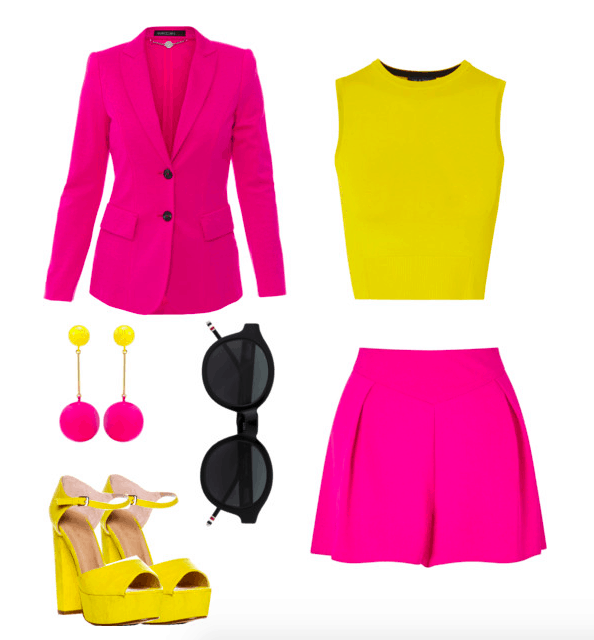 pink and yellow color combo
