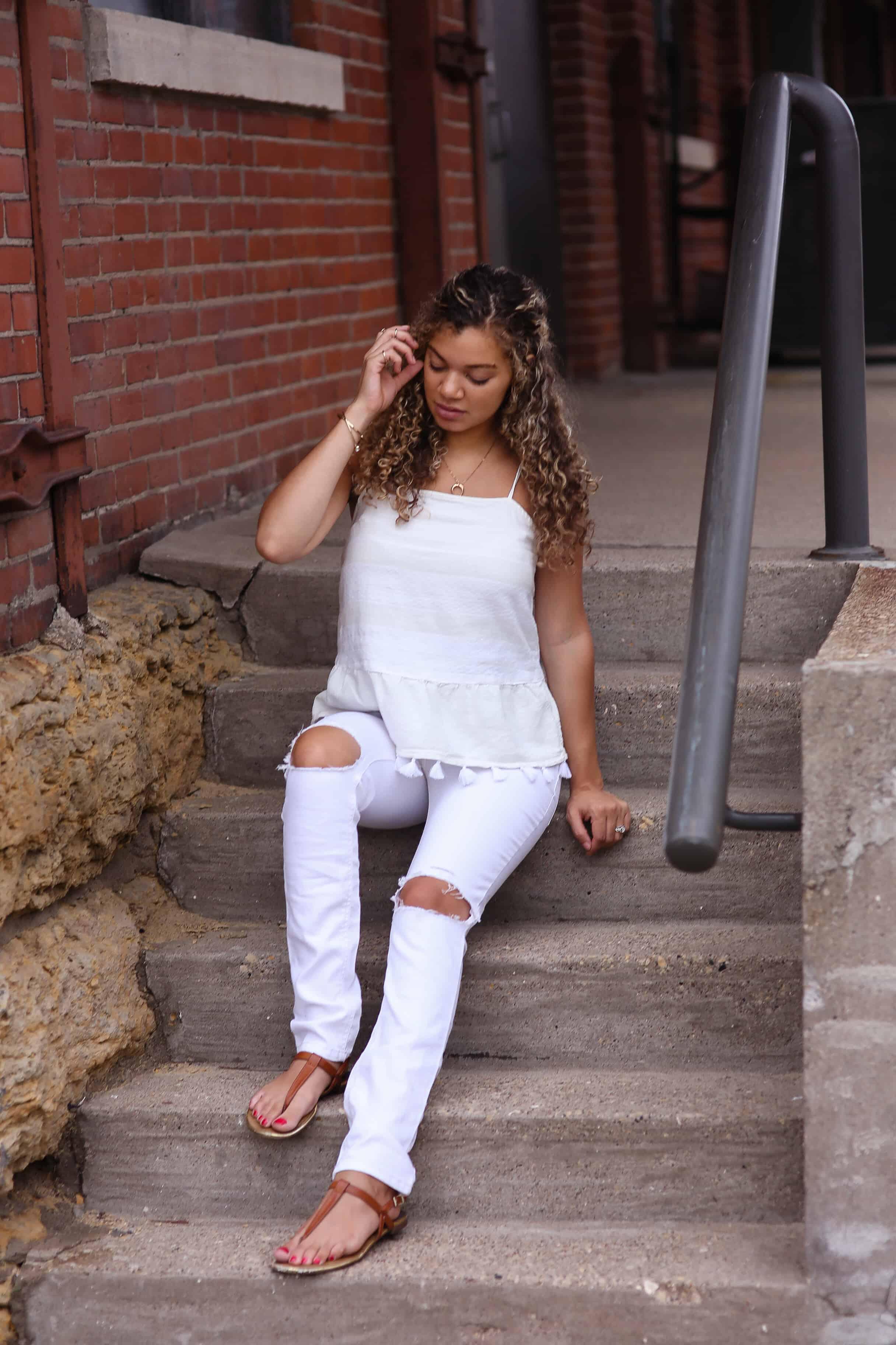 all white in summer