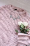 sweater and roses