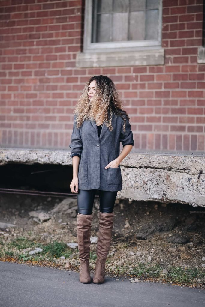 over the knee boots fall outfit