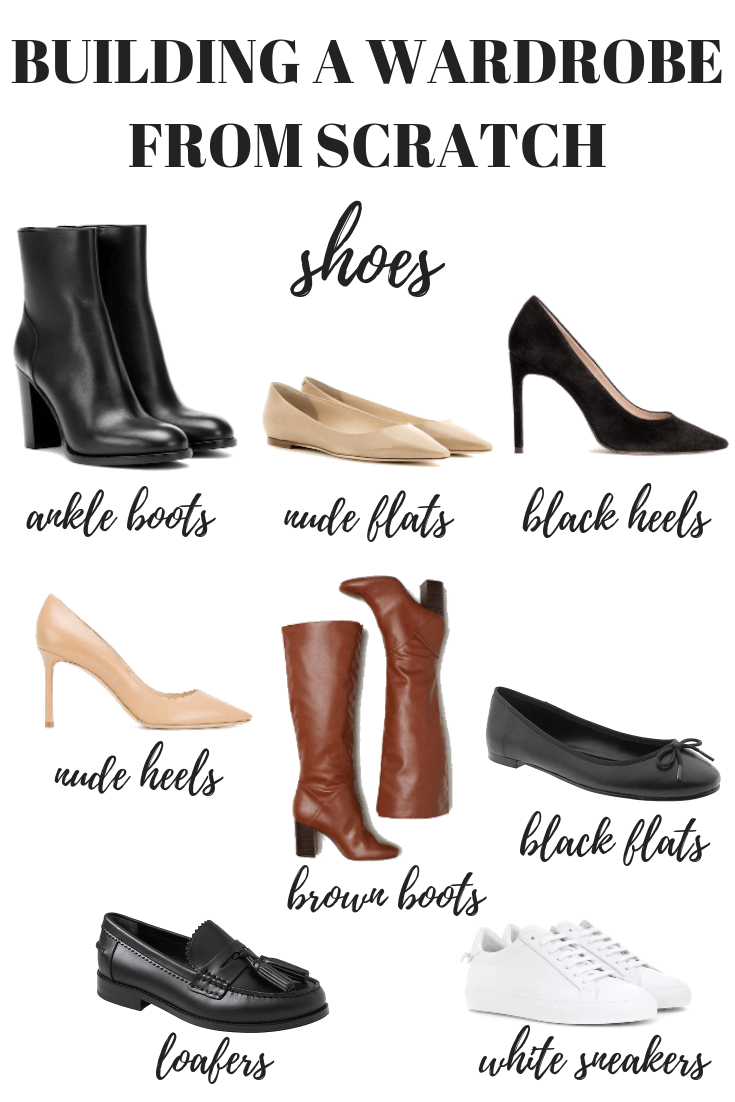 Here's how to build a wardrobe from scratch starting with your shoes. Your capsule minimalist wardrobe is just one step away!