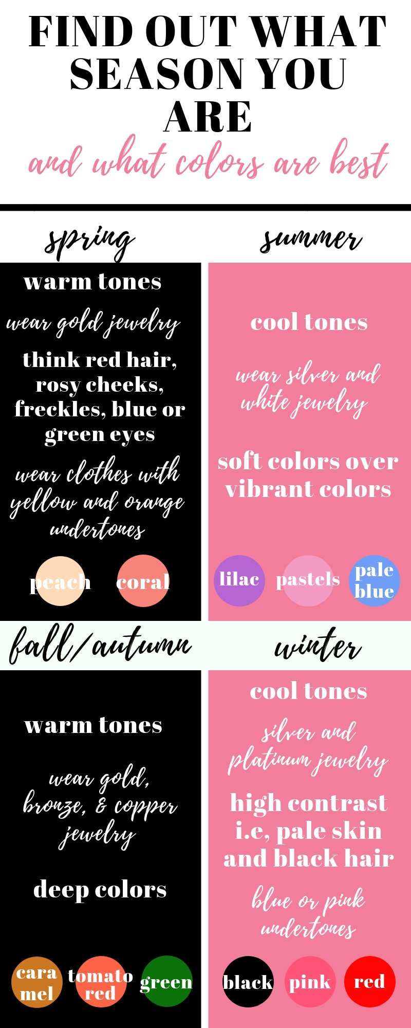 Use this guide on clothing colors for your skin to help in shopping when you need to build a wardrobe from scratch!