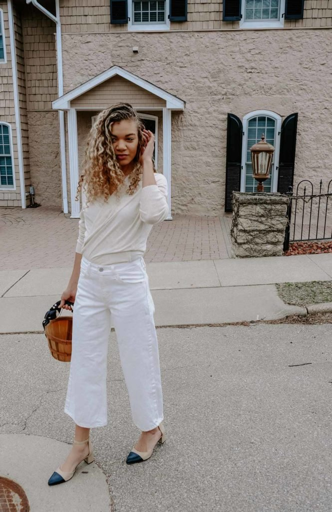 all neutral look for spring inspired by french style