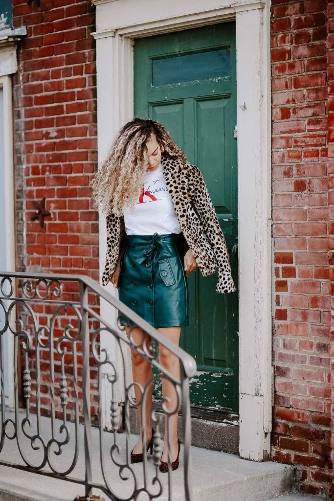 leopard print coat outfit