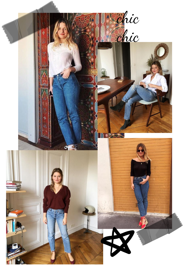 straight leg jeans outfit inspired by french fashion