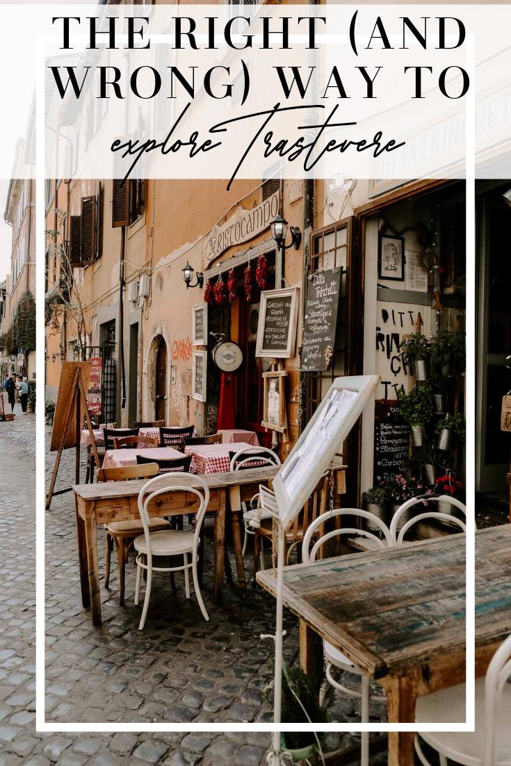 how to explore trastevere
