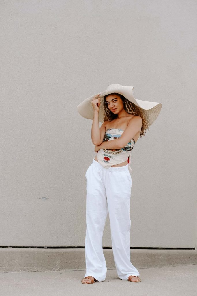 silk scarf as top summer outfit
