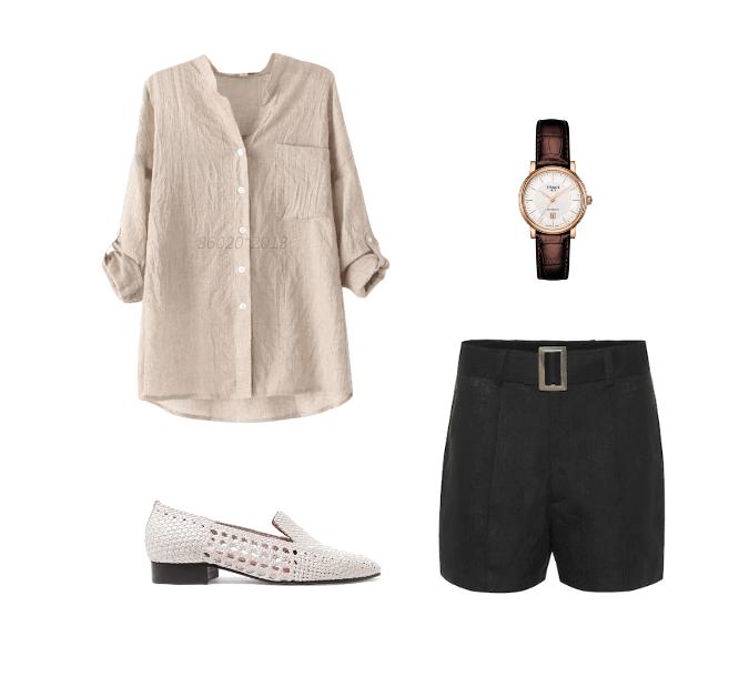 linen top classic summer outfit ideas