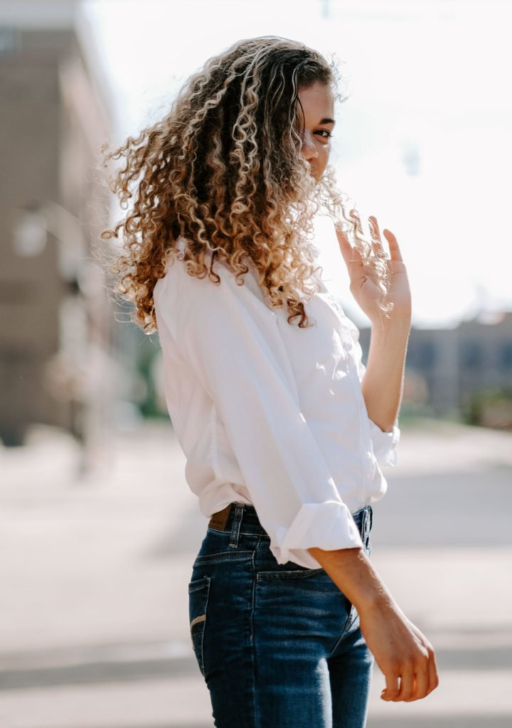 white button down outfit for a french girl starter wardrobe