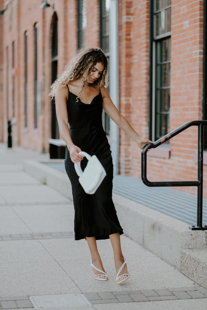 classy slip dress outfit
