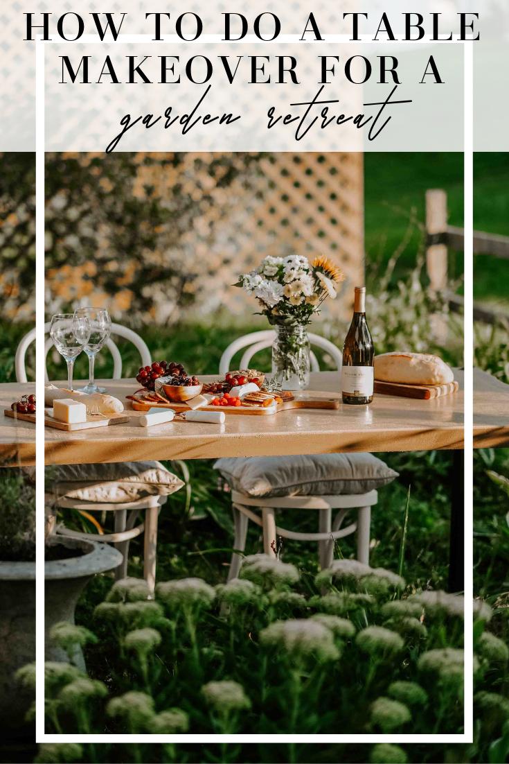 garden table makeover