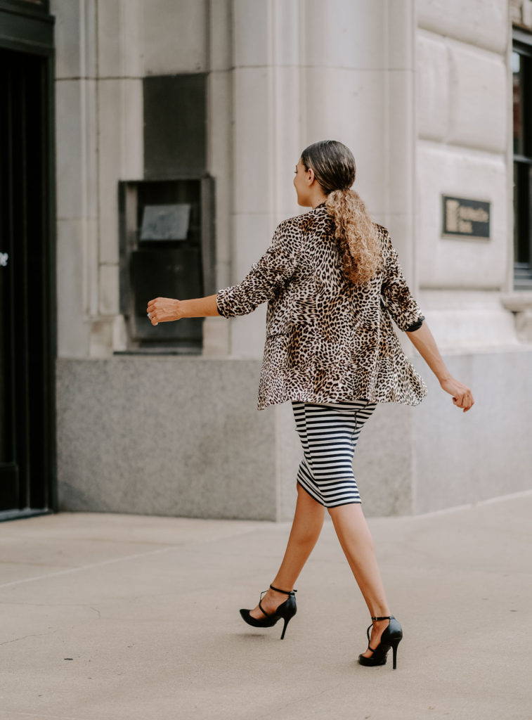 leopard print blazer outfit