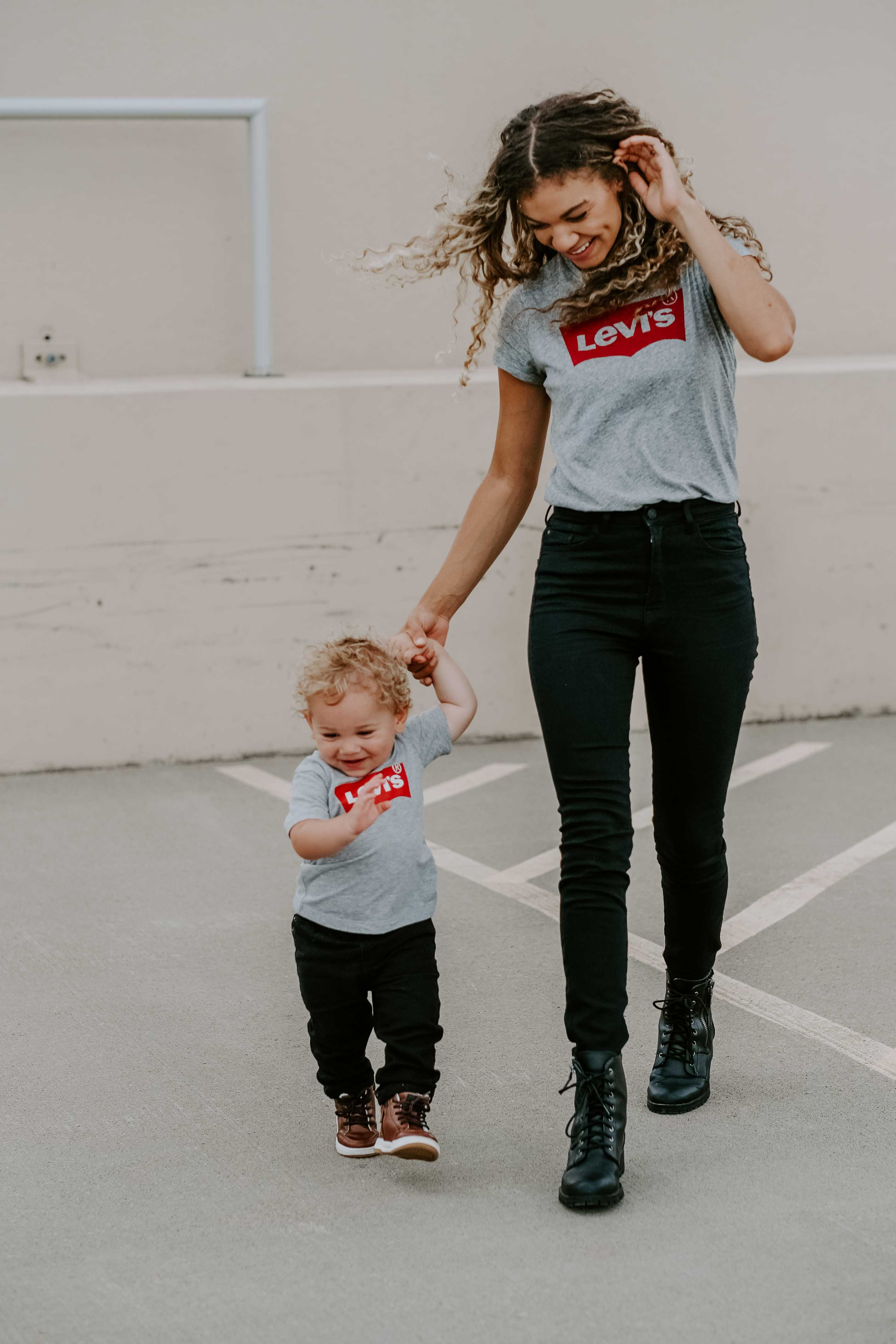 matching mother and son fall outfit