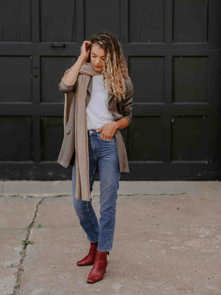 red leather boots outfit