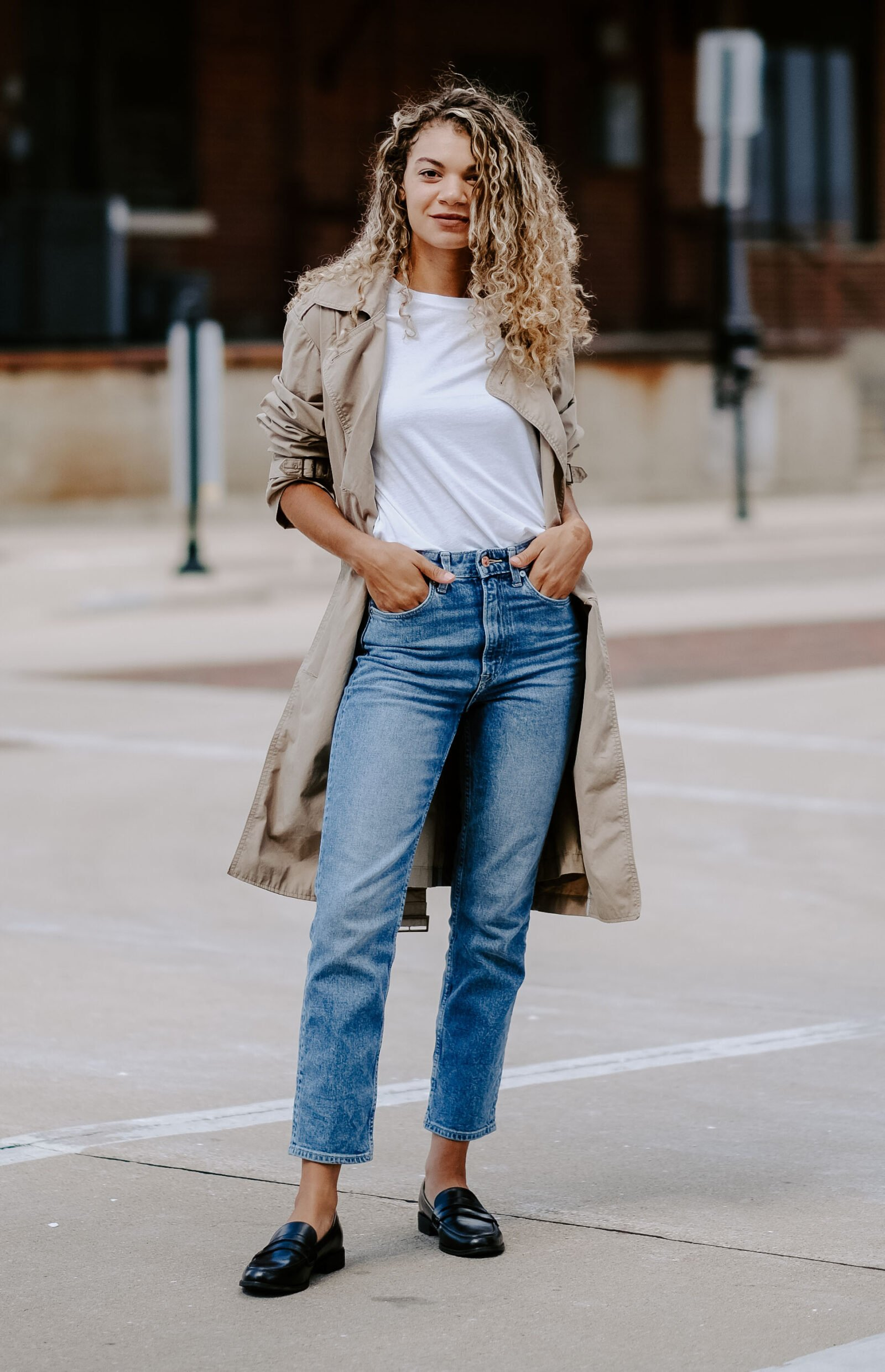 trench coat outfit for fall