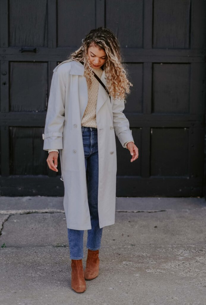 fall trench coat outfit