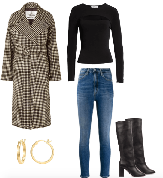 French fall outfit combo
