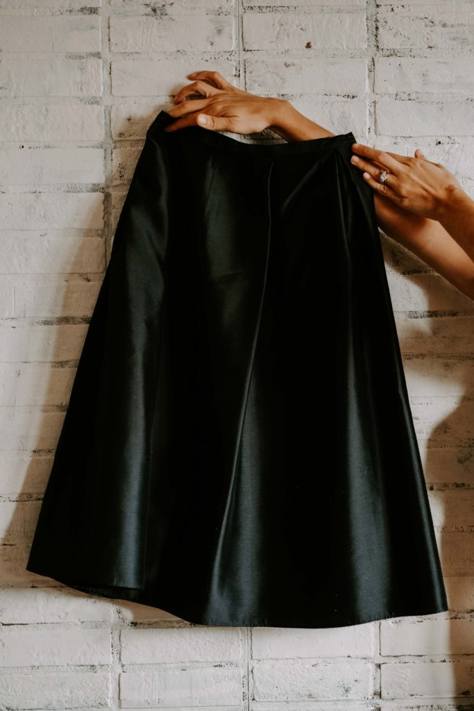 black skirt to wear for holiday parties